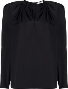 Czarna bluzka Givenchy z dekoltem w kształcie litery v