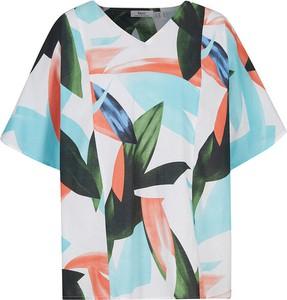 Bluzka bonprix z krótkim rękawem w stylu casual z okrągłym dekoltem