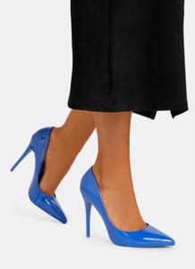 Niebieskie szpilki DeeZee ze spiczastym noskiem w stylu klasycznym na wysokim obcasie