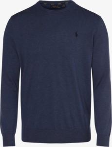 Niebieski sweter POLO RALPH LAUREN z dzianiny w stylu casual