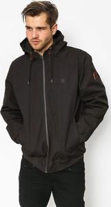 Brązowa kurtka Element w stylu casual ze skóry