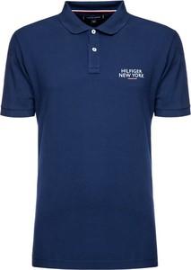 Niebieska koszulka polo Tommy Hilfiger z krótkim rękawem