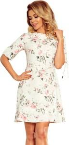 Sukienka NUMOCO z długim rękawem mini trapezowa