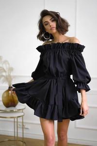 Sukienka Popatu hiszpanka z długim rękawem mini