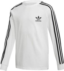 Bluza dziecięca Adidas w paseczki z bawełny