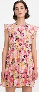 Sukienka Vero Moda z okrągłym dekoltem w stylu casual z krótkim rękawem