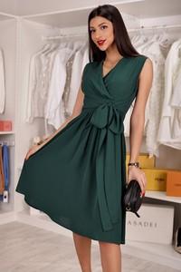 Sukienka IVET midi z dekoltem w kształcie litery v