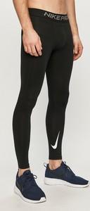 Czarne spodnie sportowe Nike w sportowym stylu z dzianiny