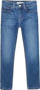 Niebieskie spodnie dziecięce Calvin Klein