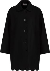Czarny płaszcz Red Valentino