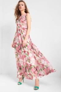 abff391191 Sukienka ORSAY maxi z tkaniny z okrągłym dekoltem