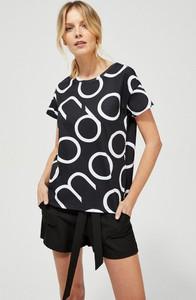 Bluzka Moodo z bawełny z okrągłym dekoltem