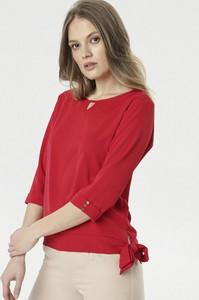 Czerwona bluzka born2be w stylu casual