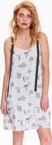 Sukienka Top Secret mini w stylu casual z dekoltem w kształcie litery v