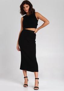 Czarna spódnica Renee w stylu klasycznym midi
