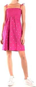 Sukienka Sun68 rozkloszowana z okrągłym dekoltem bez rękawów