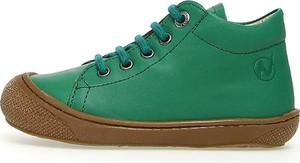 Zielone buty dziecięce zimowe Naturino sznurowane