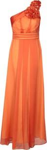 Pomarańczowa sukienka Fokus