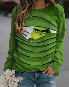 Bluzka Kendallme z długim rękawem w bożonarodzeniowy wzór z bawełny