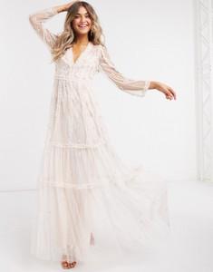 Sukienka Needle & Thread z dekoltem w kształcie litery v maxi