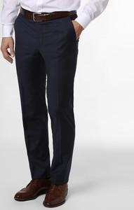 Granatowe spodnie Daniel Hechter z wełny