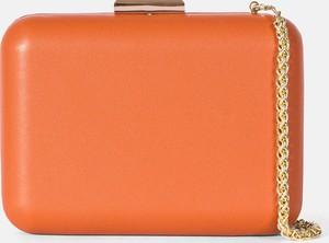 Pomarańczowa torebka Kazar w stylu glamour