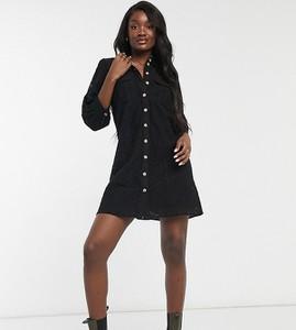Czarna sukienka Vero Moda w stylu casual mini koszulowa