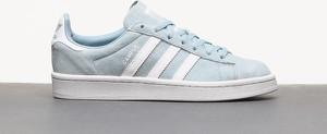 Niebieskie trampki Adidas Originals ze skóry z płaską podeszwą