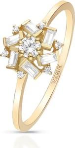 W.KRUK Pierścionek złoty z cyrkoniami ZIH/PC92