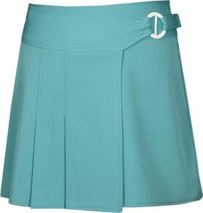 Turkusowa spódnica Fokus w stylu casual z tkaniny mini