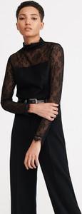 Czarna bluzka Reserved z długim rękawem z okrągłym dekoltem
