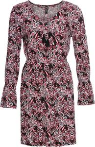 Sukienka bonprix RAINBOW midi z długim rękawem w stylu casual