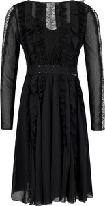 Czarna sukienka Liu-Jo rozkloszowana