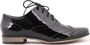 Zapato jazzówki - skóra naturalna - model 246 - kolor czarny lakier