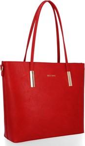 Torebka Bee Bag ze skóry ekologicznej duża w stylu glamour