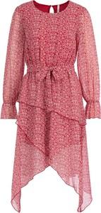 Różowa sukienka Pepe Jeans w stylu casual