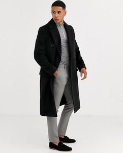 Czarny płaszcz męski River Island