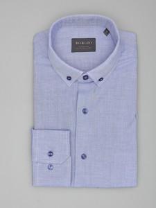 Niebieska koszula Borgio z długim rękawem z bawełny