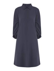 Granatowa sukienka someday. mini z kołnierzykiem