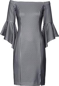 Sukienka bonprix BODYFLIRT boutique hiszpanka dopasowana midi