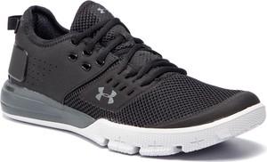 Granatowe buty sportowe Under Armour w sportowym stylu sznurowane