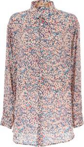 Różowa koszula N°21 z jedwabiu