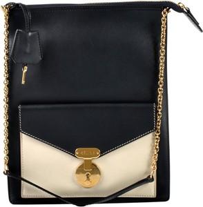 Czarna torebka Céline na ramię ze skóry średnia