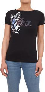 T-shirt Emporio Armani z krótkim rękawem w młodzieżowym stylu z okrągłym dekoltem