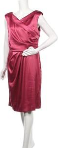 Różowa sukienka Heine z dekoltem w kształcie litery v