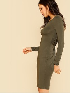 Sukienka Beauty_senses z długim rękawem w stylu casual mini