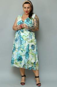 Sukienka KARKO w stylu casual z szyfonu