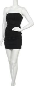 Czarna sukienka Zara Trafaluc bez rękawów mini z okrągłym dekoltem