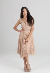 Sukienka Butik Ecru bez rękawów midi