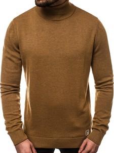 Brązowy sweter Ozonee z bawełny